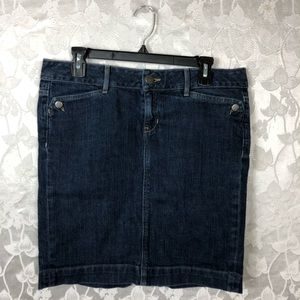 GAP Jean Skirt Size 8, 99% Cotton, 1% Spandex.